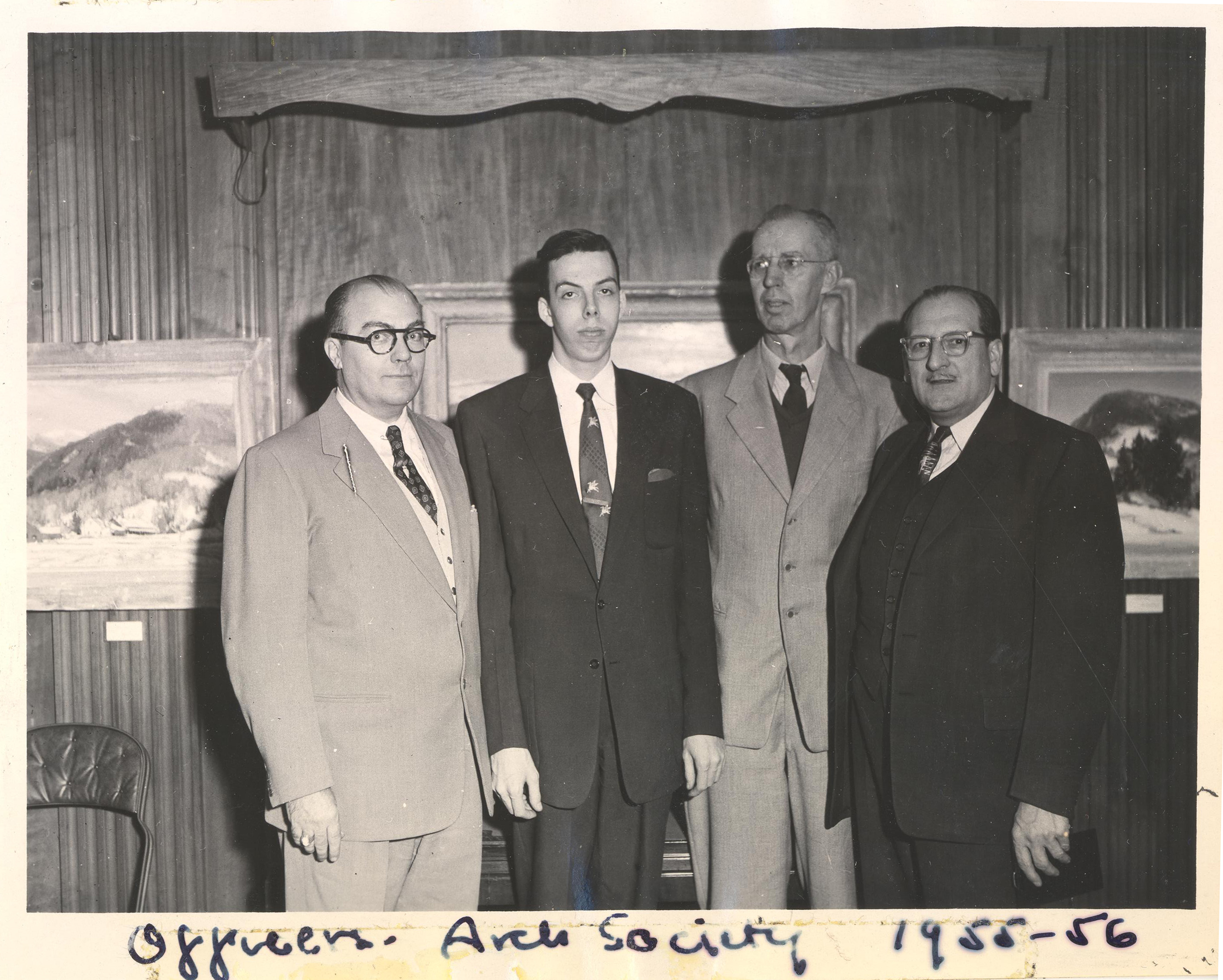 1955-6 Archaeological Society Officers